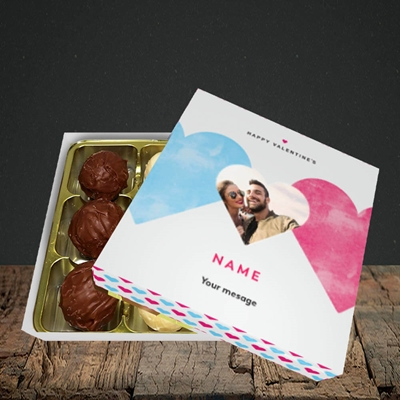 Picture of Joined Hearts (textured), Valentine Design, Choc 9