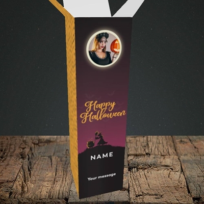 Picture of Witch On The Hill, Halloween Design, Upright Bottle Box