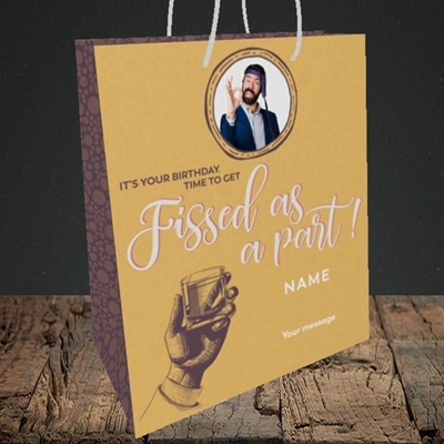 Picture of Fissed As A Part, Birthday Design, Medium Portrait Gift Bag
