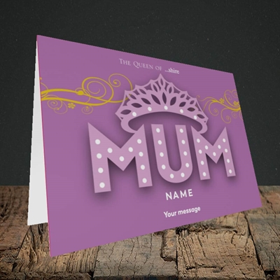 Picture of The Queen(Without Photo), Mother's Day Design, Landscape Greetings Card