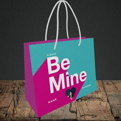 Picture of Always be Mine (type), Valentine's Design, Small Landscape Gift Bag