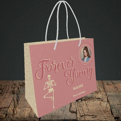 Picture of Forever Young(Skeleton), Birthday Design, Small Landscape Gift Bag