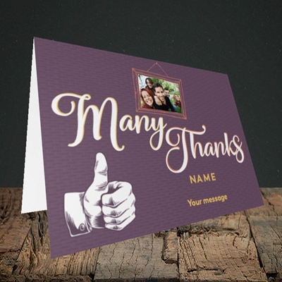 Picture of Many Thanks, Thank You Design, Landscape Greetings Card