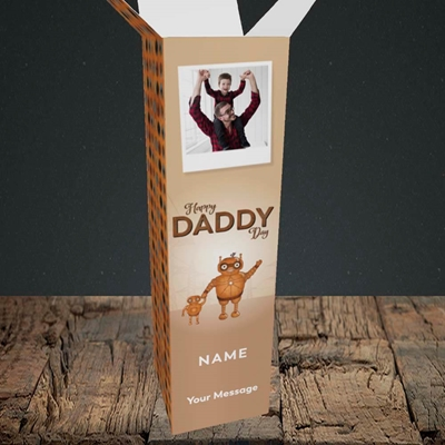 Picture of Daddy Robot, Father's Day Design, Upright Bottle Box