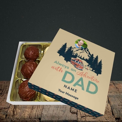 Picture of Camper Van With Dad, Father's Day Design, Choc 9
