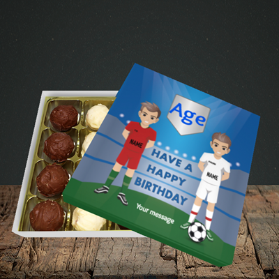Picture of Football, (Without Photo and editable age) Birthday Design, Choc 16