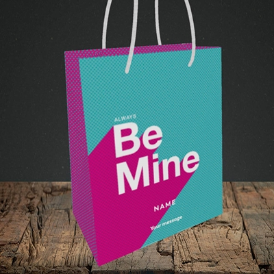 Picture of Always be Mine (type) (Without Photo), Valentine's Design, Small Portrait Gift Bag