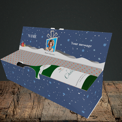 Picture of Sleigh Of Presents, Christmas Design, Lay-down Bottle Box