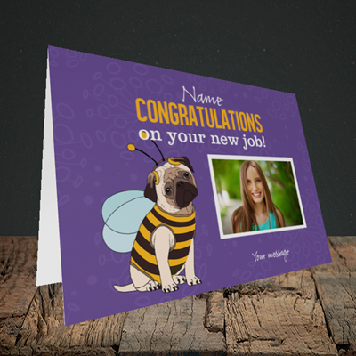 Picture of Bee, New Job Design, Landscape Greetings Card