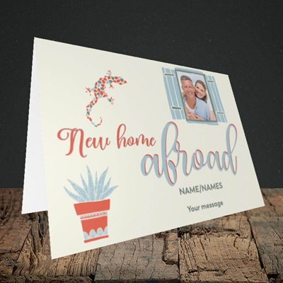 Picture of New Home Abroad, New Home Design, Landscape Greetings Card