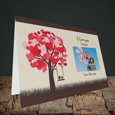 Picture of Lovebirds, Valentine's Design, Landscape Greetings Card