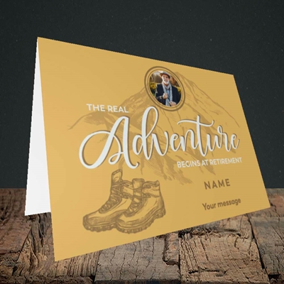 Picture of Adventure Begins, Retirement Design, Landscape Greetings Card