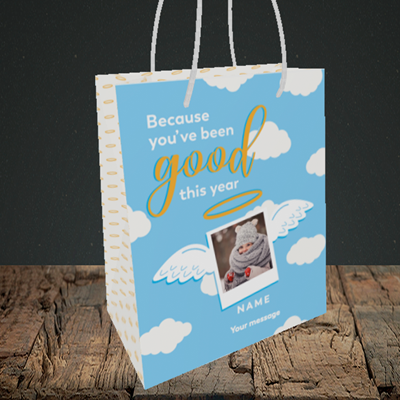 Picture of Good This Year, Christmas Design, Small Portrait Gift Bag