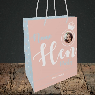 Picture of Hen Party Peach, Wedding Design, Small Portrait Gift Bag