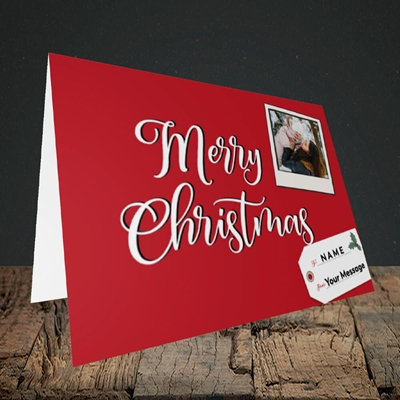 Picture of 2. A Merry Christmas Polaroid, Christmas Design, Landscape Greetings Card