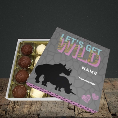 Picture of Let's Get Wild(Without Photo), Valentine's Design, Choc 16