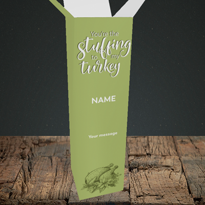 Picture of Stuffing To My Turkey(Without Photo), Christmas Design, Upright Bottle Box