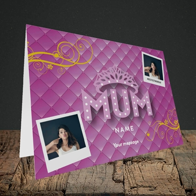 Picture of Bestest Mum, Mother's Day Design, Landscape Greetings Card