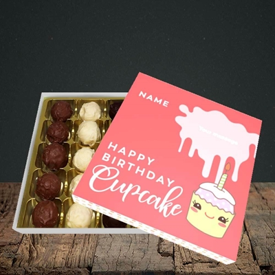 Picture of Cupcake(Without Photo), Birthday Design, Choc 25