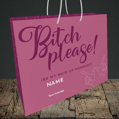 Picture of Bitch Please!(Without Photo), Wedding Design, Medium Landscape Gift Bag