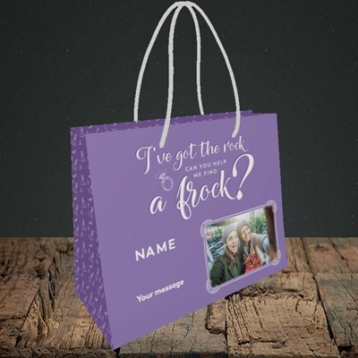 Picture of Got The Rock, Wedding Design, Small Landscape Gift Bag