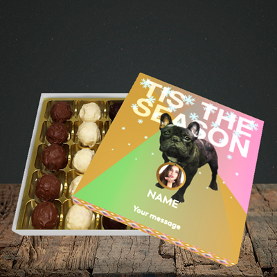 Picture of Tis The Frenchie, Christmas Design, Choc 25