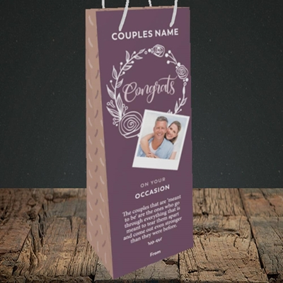 Picture of Wreath Purple, Anniversary Design, Bottle Bag