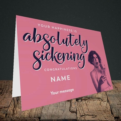 Picture of Absolutely Sickening(Without Photo), Wedding Design, Landscape Greetings Card