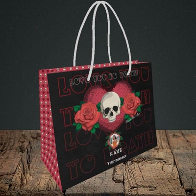 Picture of Love You To Death, Valentine's Design, Small Landscape Gift Bag