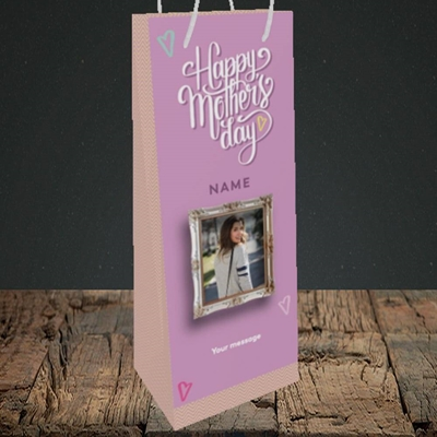 Picture of Happy Mother's Day, Mother's Day Design, Bottle Bag