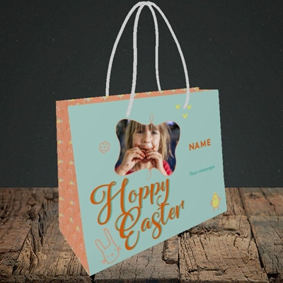 Picture of Hoppy Easter, Easter Design, Small Landscape Gift Bag