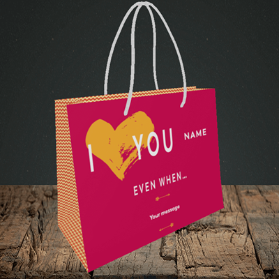 Picture of Love You Even When, (Without Photo) Valentine's Design, Small Landscape Gift Bag