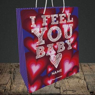 Picture of I Feel You Baby(Without Photo), Valentine's Design, Medium Portrait Gift Bag