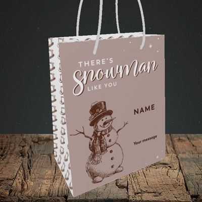 Picture of Snowman Like You(Without Photo), Christmas Design, Small Portrait Gift Bag