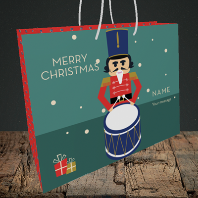 Picture of Drummer Boy(Without Photo), Christmas Design, Medium Landscape Gift Bag