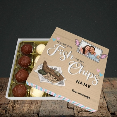 Picture of Fish To My Chips, Valentine's Design, Choc 16
