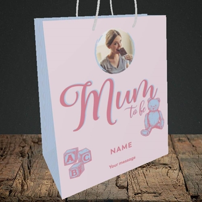Picture of Mum To Be, Pregnancy Design, Medium Portrait Gift Bag