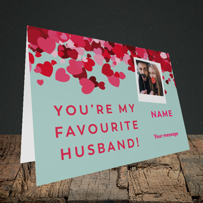 Picture of Favourite Husband, Valentine's Design, Landscape Greetings Card