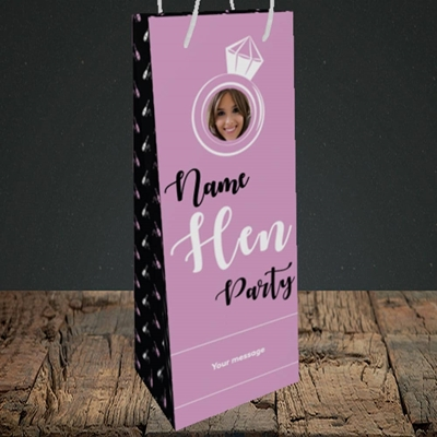 Picture of Hen Party Purple, Wedding Design, Bottle Bag