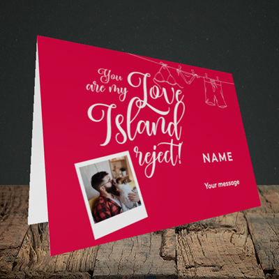 Picture of Love Island Reject, Valentine's Design, Landscape Greetings Card