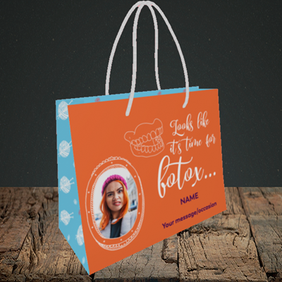 Picture of Botox, Birthday Design, Small Landscape Gift Bag