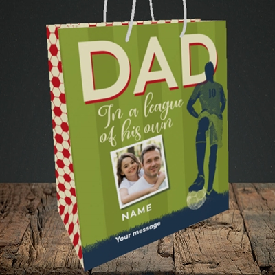 Picture of League Of His Own, Father's Day Design, Medium Portrait Gift Bag