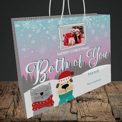 Picture of Both Of You, Christmas Design, Medium Landscape Gift Bag
