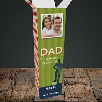 Picture of League Of His Own, Father's Day Design, Upright Bottle Box