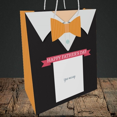 Picture of Bowtie(Without Photo), Father's Day Design, Medium Portrait Gift Bag