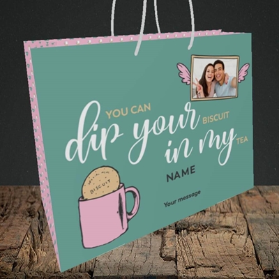 Picture of Dip Your... In My, Valentine's Design, Medium Landscape Gift Bag