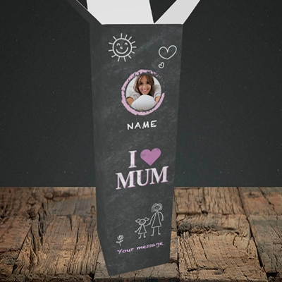 Picture of I Love Mum (Chalk Board), Upright Bottle Box