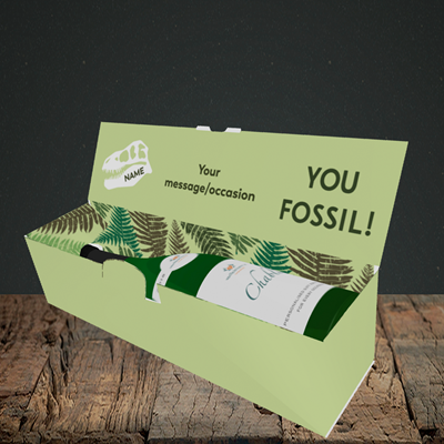 Picture of Fossil, (Without Photo) Birthday Design, Lay-down Bottle Box