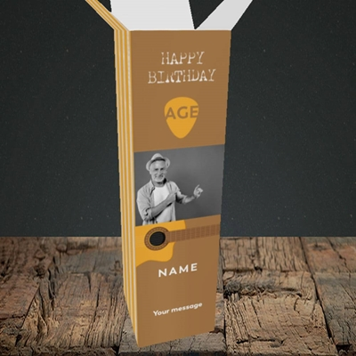 Picture of Acoustic Age, Birthday Design, Upright Bottle Box