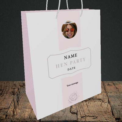 Picture of Elegance Of Rose - Pink, Wedding Design, Medium Portrait Gift Bag